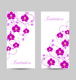 set of vertical banners with flowers vector image
