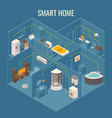 smart house concept flat 3d isometric vector image