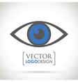 abstract eye icon blue vector image vector image