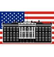 White House and the US flag-1 vector image