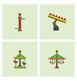 amusement park stock vector image