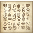 36 hand drawing doodle icon set vector image
