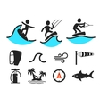 Summer water sport pictograms vector image vector image