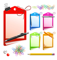 pencil background vector image vector image