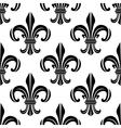 Victorian royal fleur-de-lis seamless pattern vector image