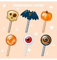 Halloween lollipops candy vector image
