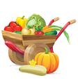 barrow vegetable vector image