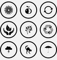 camomile apple recycle symbol life in hands vector image