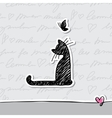 Card with cat vector image