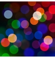 Defocused Christmas lights blur background vector image