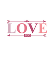 love you arrow word vector image