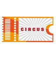 orange circus ticket vector image