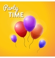 party time inscription with balloons vector image