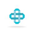 Pharmaceutical cross logo vector image