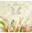 Retro floral background card vector image