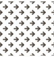 Rounded transparent black arrows seamless pattern vector image