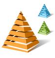 Spiral pyramids vector image