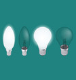 turning on and off a light bulb set of realistic vector image
