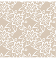 Seamless lace pattern on beige background vector image