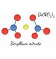 BeN2O6 Beryllium nitrate molecule vector image