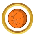 Basketball ball icon cartoon style vector image