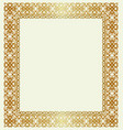golden frame on a beige vector image