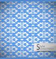 flower blue lattice vintage geometric seamless vector image