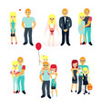 stages of family life concept poster vector image