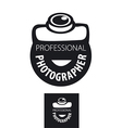 logo camera for professional photographer vector image