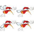 Cartoon character red fly insect vector image vector image