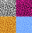 Leopard skin seamless repeated pattern Set of 4 vector image