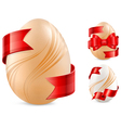 egg with red ribbon vector image