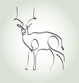 Antelope gazelle in minimal line style vector image