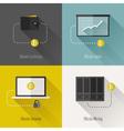 Bitcoin flat concept vector image