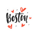 boston modern city hand written brush lettering vector image