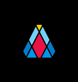 color prism shape geometry logo vector image