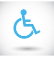 Disabled single icon vector image