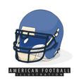 helmet for american football vector image