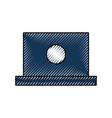 laptop computer device technology digital icon vector image
