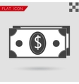Money icon Flat Style with red vector image
