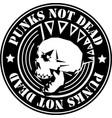 punk rock icon vector image