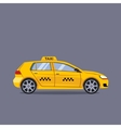 Taxi car flat design vector image