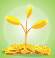 Tree Gold coin cartoon vector image
