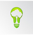 tree in light bulb background vector image