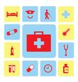 icons hospital set vector image
