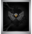 Badge with biohazard symbol and wings vector image vector image