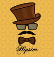 hipster sa brkovima2 resize vector image vector image