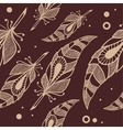pattern with feathers vector image