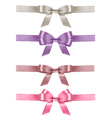 Set of colorful gift bows with ribbons vector image