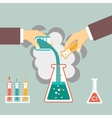 chemical experiment vector image